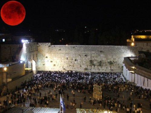Blood Red Moon over Jerusalem